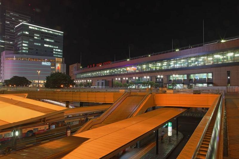 仙台駅の夜