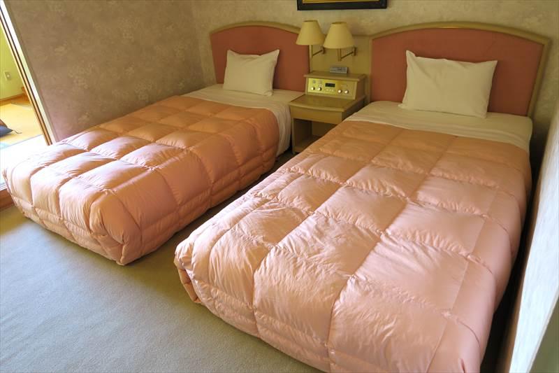 あずまや高原ホテルのベッド