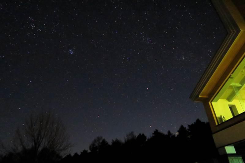 あずまや高原ホテルからの夜景(星空)