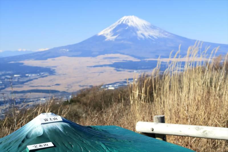 三国峠と富士山