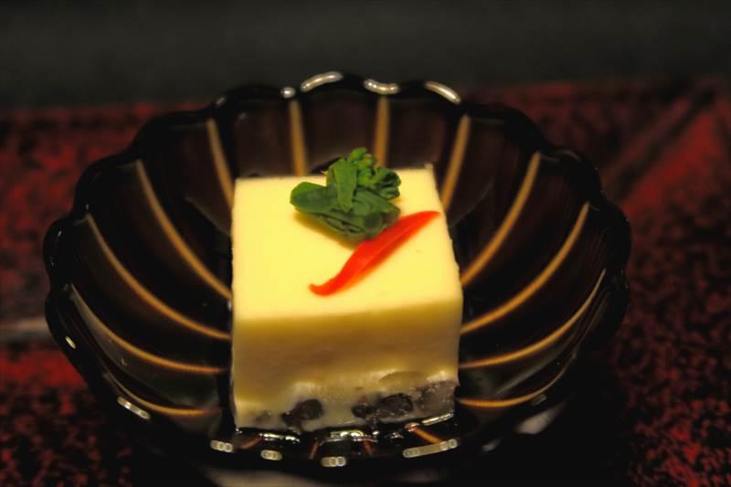 鎌先温泉 時音の宿 湯主 一條 夕食のチーズ葛豆腐