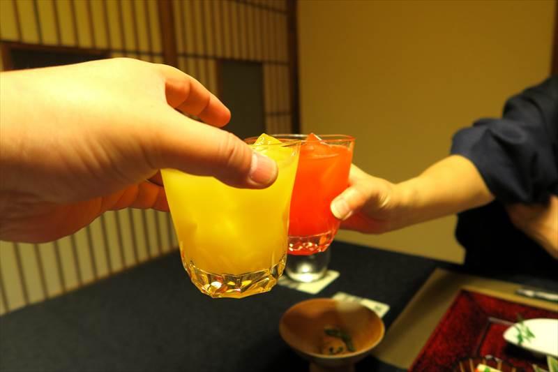 鎌先温泉 時音の宿 湯主 一條 夕食で飲んだカクテル