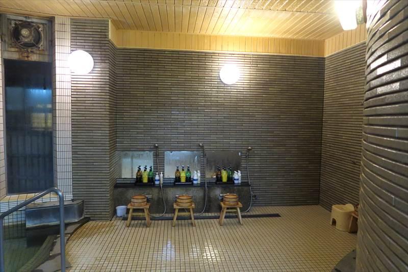 鎌先温泉 時音の宿 湯主 一條 内湯の洗い場
