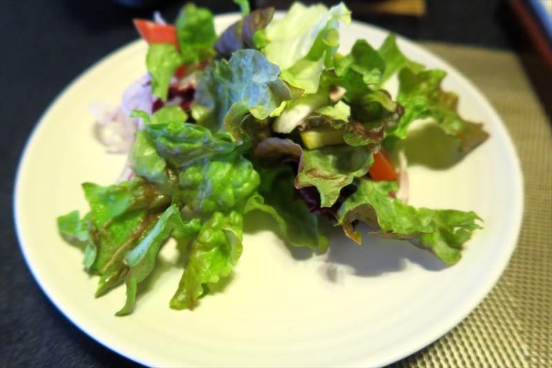 鎌先温泉 時音の宿 湯主 一條の朝食のサラダ
