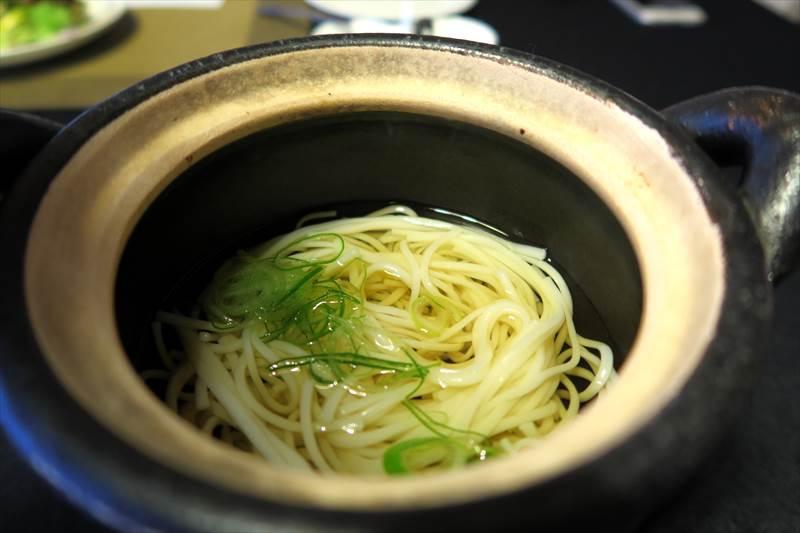 鎌先温泉 時音の宿 湯主 一條の朝食の温麺