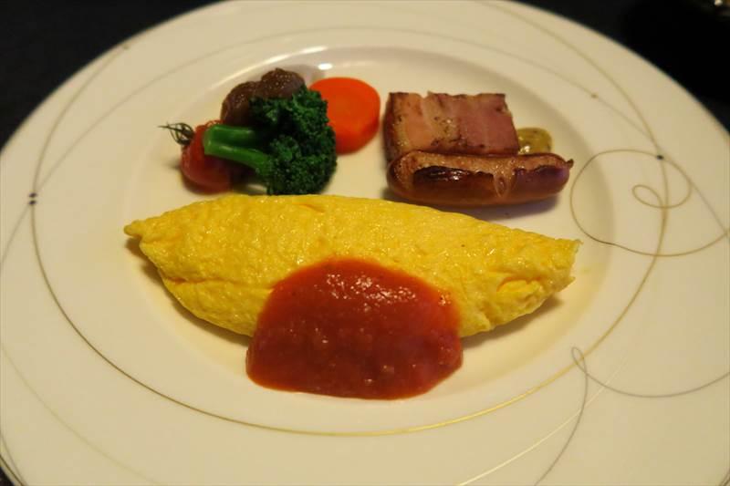 鎌先温泉 時音の宿 湯主 一條の朝食のオムレツ