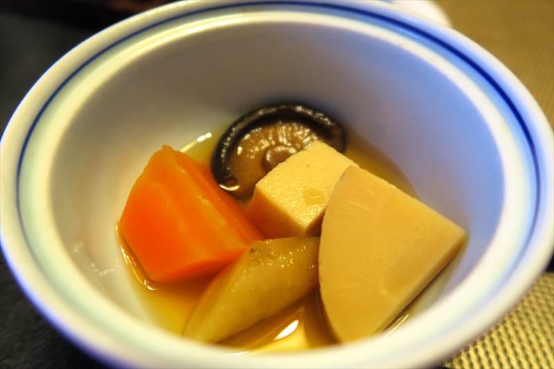 鎌先温泉 時音の宿 湯主 一條の朝食の煮しめ