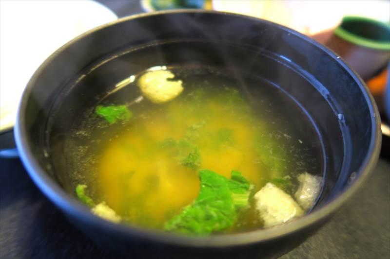鎌先温泉 時音の宿 湯主 一條の朝食の味噌汁