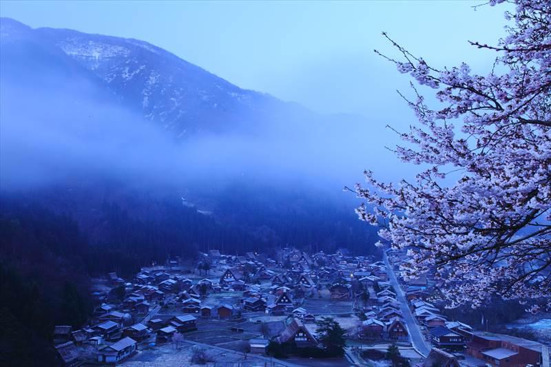 白川郷 天守閣展望台からの風景