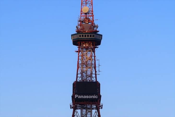 北海道胆振東部地震の時のさっぽろテレビ塔の様子