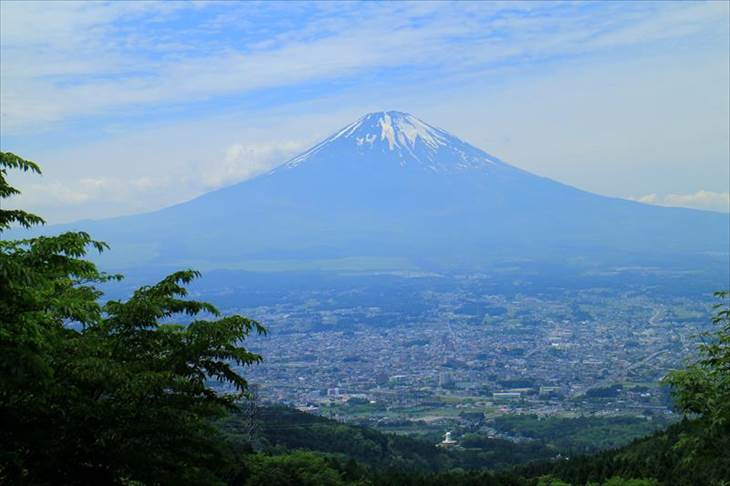 乙女峠の「乙女の鐘」からの富士山