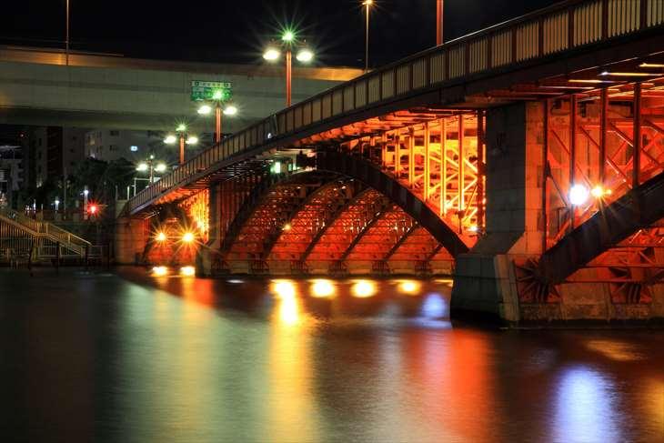 浅草 吾妻橋付近の夜景
