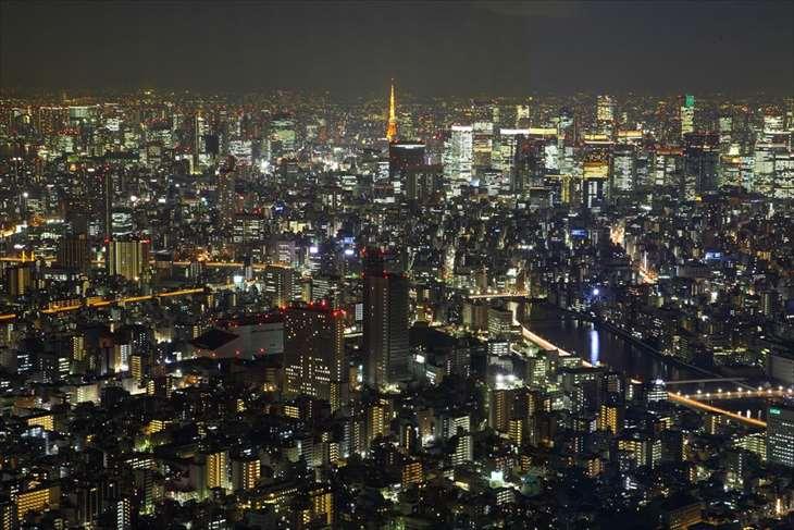 東京スカイツリーからの夜景