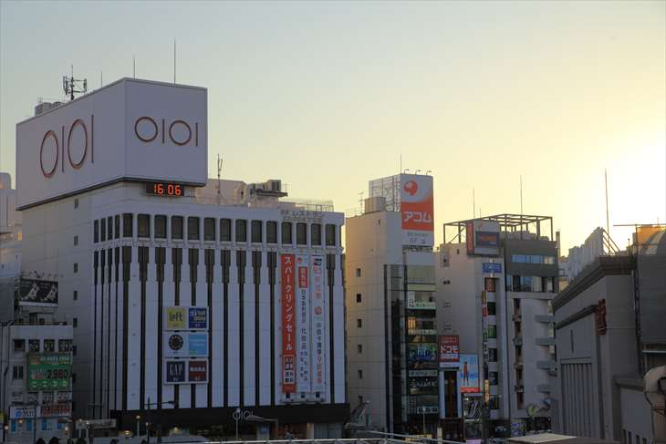 上野駅とマルイ