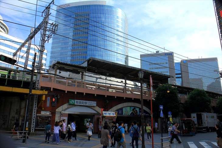 JR有楽町駅から東京駅までの風景