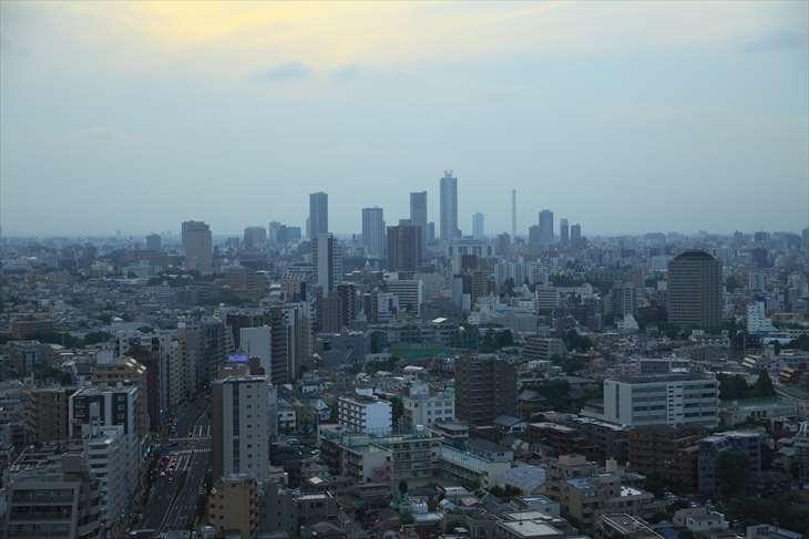 文京区役所 文京シビックセンター展望ラウンジ からの夜景