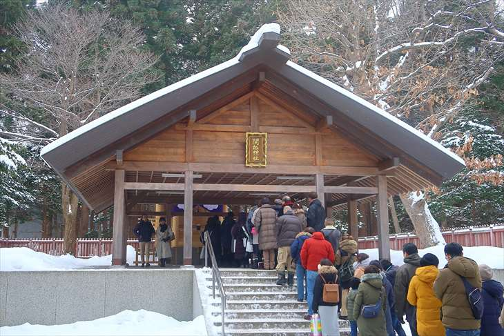 北海道神宮 初詣の様子 開拓神社