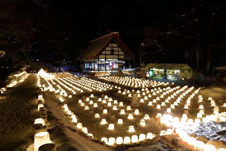 定山渓温泉 雪灯路
