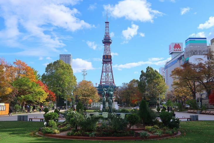 2018年10月の札幌 大通公園とさっぽろテレビ塔