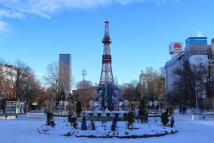2018年11月の札幌 大通公園とさっぽろテレビ塔