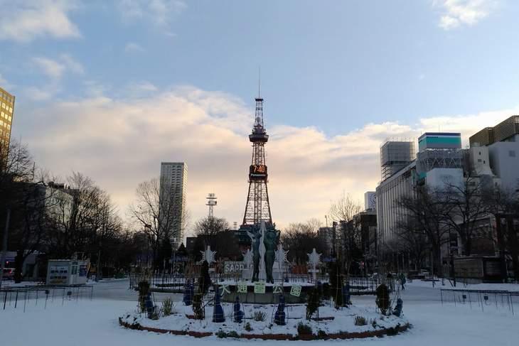 2017年11月の札幌 大通公園とさっぽろテレビ塔