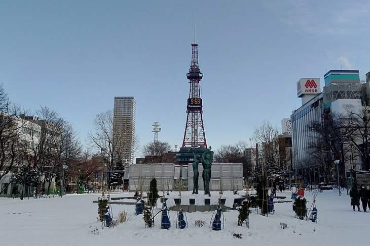2017年12月の札幌 大通公園とさっぽろテレビ塔