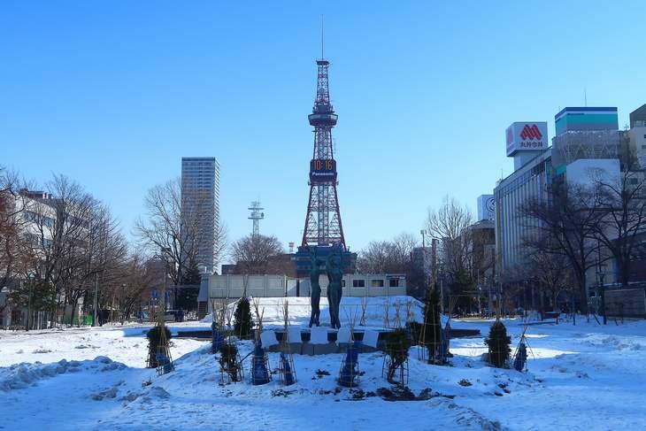 2019年2月の札幌 大通公園とさっぽろテレビ塔