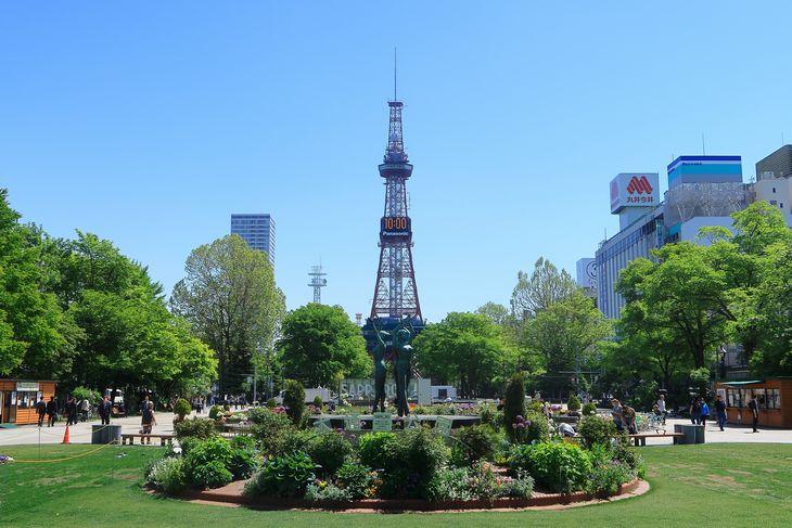 2018年5月の札幌 大通公園とさっぽろテレビ塔