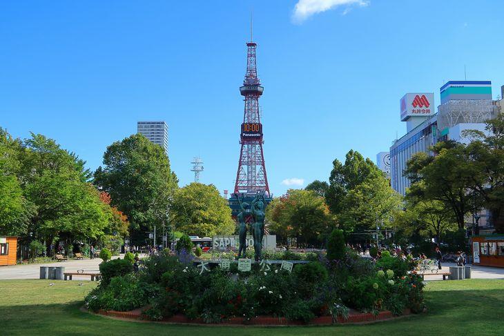 2018年9月の札幌 大通公園とさっぽろテレビ塔