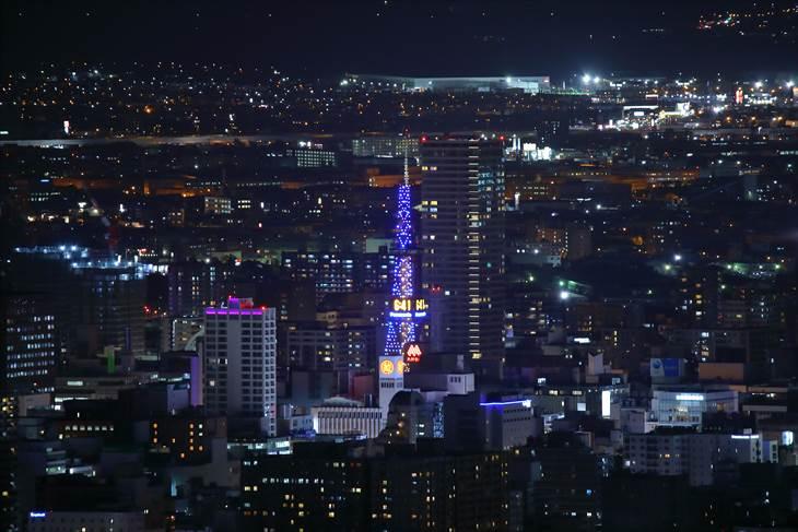 幌見峠駐車場の夜景