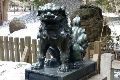 北海道神宮 境内末社 穂多木神社 狛犬様