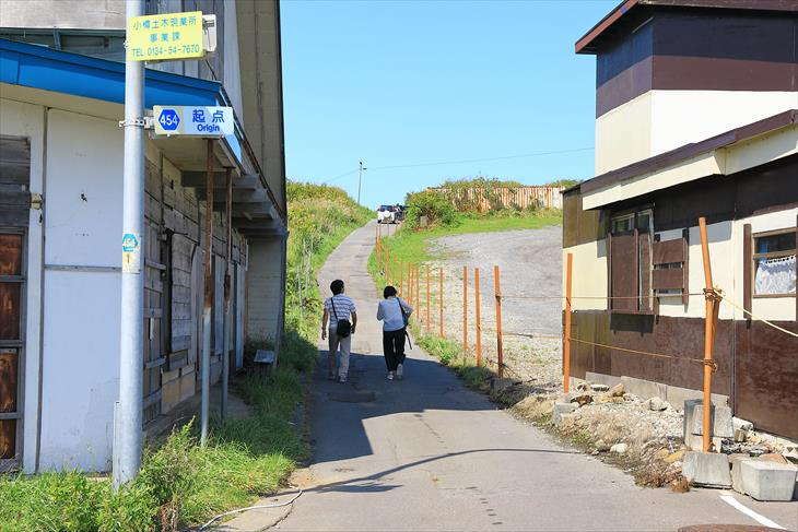小樽市鰊御殿への道