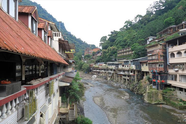 烏來老街の風景