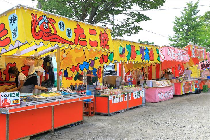 丘珠神社のお祭りの屋台