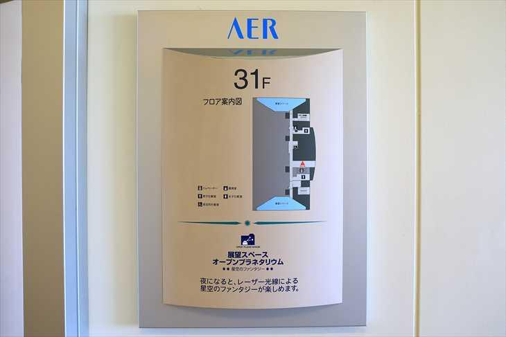 AER(アエル)31階フロア図