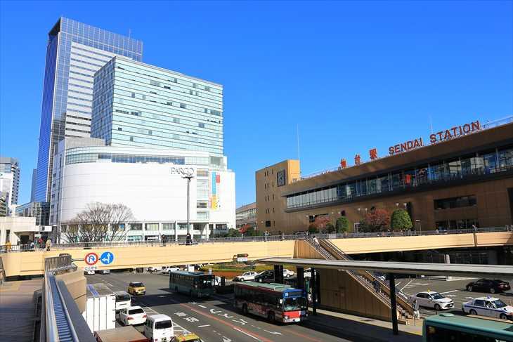 仙台駅の風景