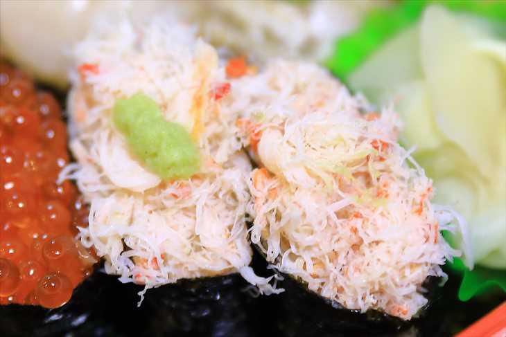 お寿司 カニむき身