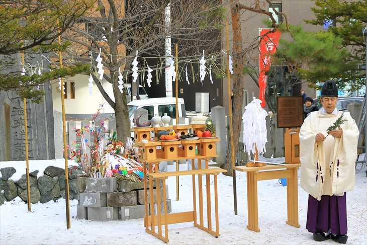 北海道神宮頓宮 どんど焼き