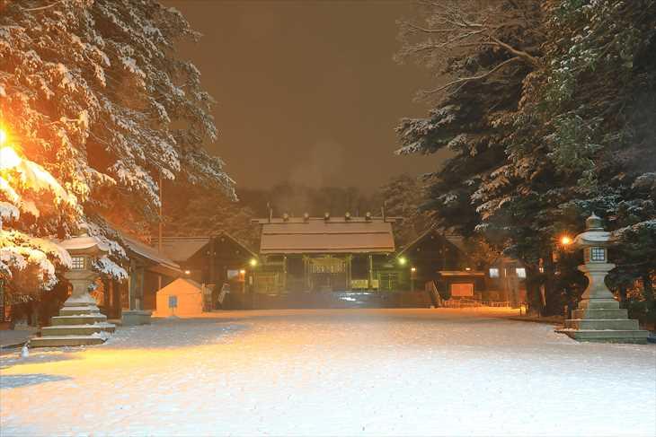 夜の北海道神宮