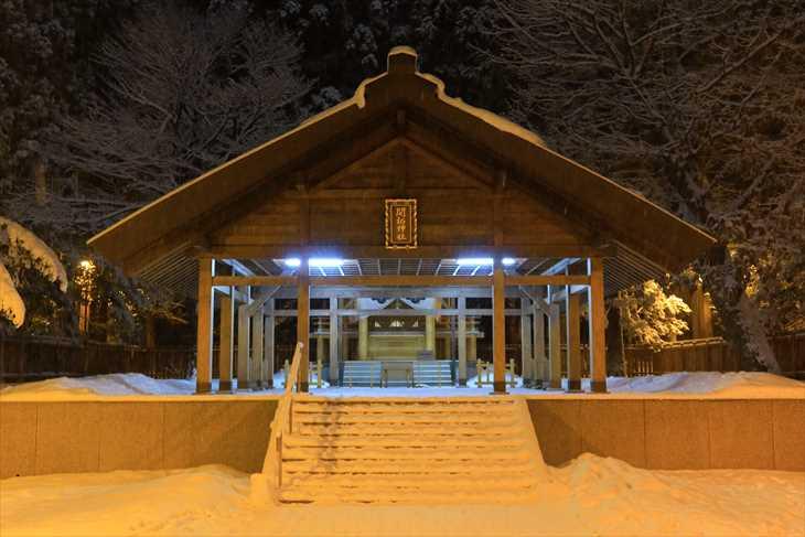 夜の開拓神社