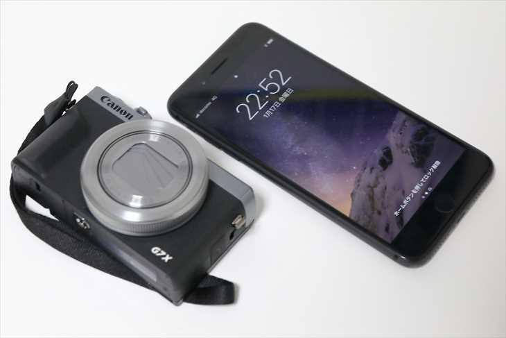 Canon PowerShot G7 X Mark3とiPhone8Plus