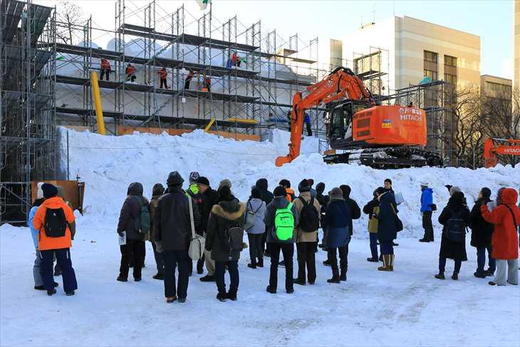 さっぽろ雪まつり 大雪像制作見学会