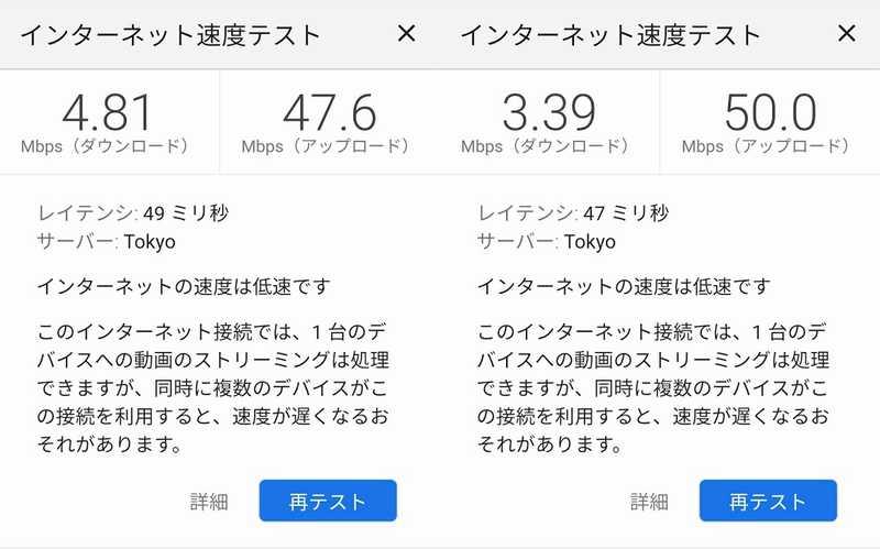 ホテルノルド小樽 Wi-Fi速度