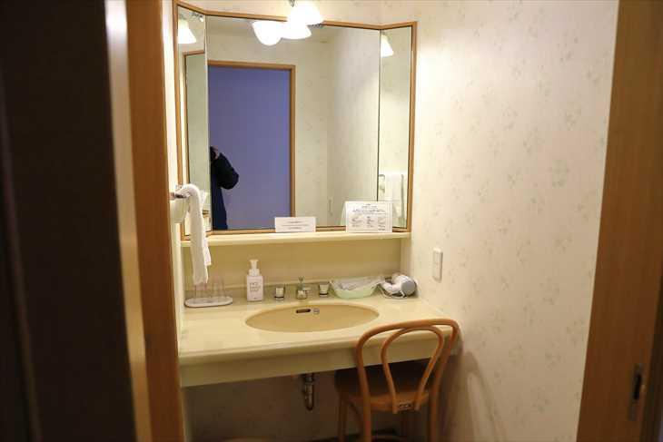 ホテルノルド小樽 洗面所