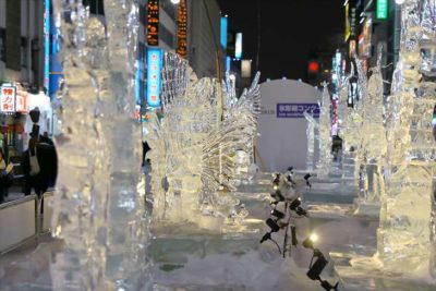 さっぽろ雪まつり すすきの会場「すすきの アイスワールド」