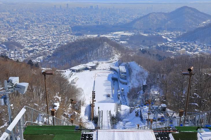 冬の大倉山展望台