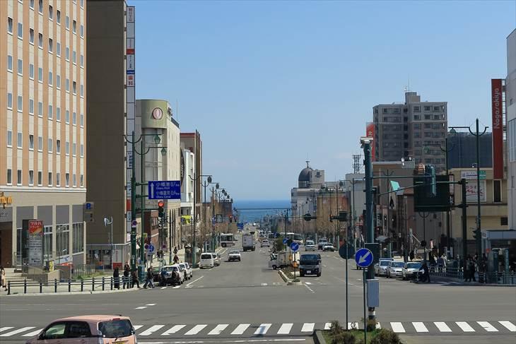 小樽駅前からの風景