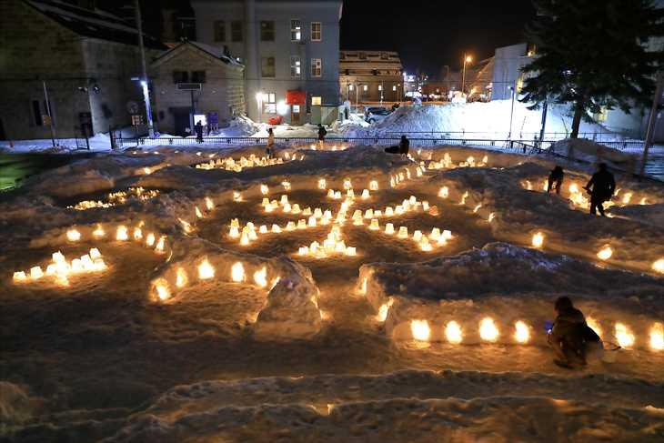 小樽雪あかりの路 小樽芸術村会場