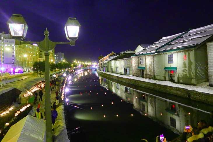 小樽雪あかりの路 小樽運河会場