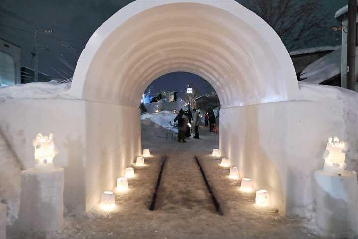 小樽雪あかりの路 手宮線会場